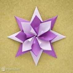 Estrela de Natal de Origami
