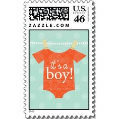 Its A Boy Baby Shower Stamp $21.95