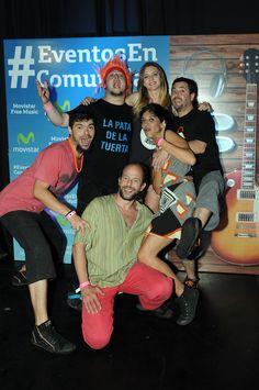 Los chicos de La Pata de la Tuerta junto a Geraldine Newmann en el #MovistarFreeMusic.