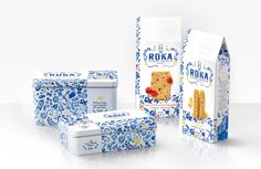Quatre Mains package design - roka, cheese, biscuits, packaging