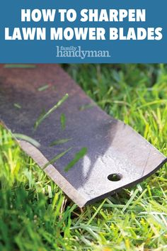 Your lawn mower blade is dull or mulching. We'll show you the difference old and new blades and how to sharpen a mower blade to perfection. Lawn Mower Maintenance, Lawn Mower Repair, Garden Maintenance, Sharpen Lawn Mower Blades, Walk Behind Mower, Lawn Care Tips, Blade Sharpening, Lawn Equipment, Lawn Edging