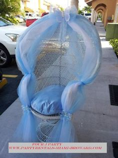 Great Idea For Mother To Be Special Chair. Cinderella Baby ShowerMermaid ...
