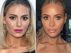 """The """"Real Housewives of Beverly Hills"""" star has been getting bombarded with questions about her fresh, new look -- but Samuel Rauda says it's """"just makeup. Star Makeup, Kiss Makeup, Love Makeup, Makeup Tips, Beauty Makeup, Makeup Looks, Dorit Kemsley, Cheek Fillers, Beauty Killer"""