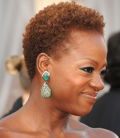 Viola Davis showed up looking ultra glamorous at the 2013 Oscars with her short, natural hair — proof that close crops can be elegant, too.  - GoodHousekeeping.com