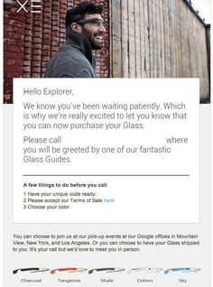 If You Pre-Ordered Google Glass, Here's What To Expect Once Your Number IsCalled - via Tech Crunch #ifihadglass #projectglass #googleglass #glassexplorers
