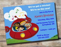 Little Einsteins Birthday Invitation Customized by PortlyBallerina, $10.00