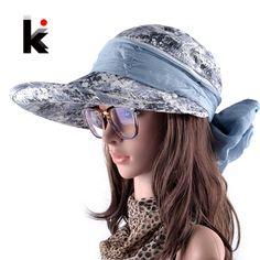 Summer Beach Hats For Women Foldable Bow Wide Brim Visor Caps Anti-UV Sun Chapeau Feminino With Neck Flap Hoeden Voor Vrouwen