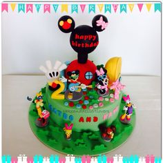 Mickey Mouse Clubhouse Cake  By Cake And Dessert Lovers  www.facebook.com/CakeAndDessertLovers