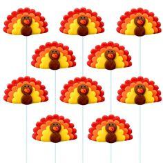 thanksgiving turkey pops - set of 5 pops