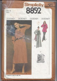 Simplicity 8852 Pattern for Misses Designer by VictorianWardrobe, $8.00