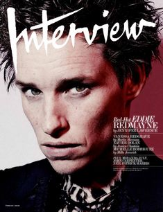 Eddie Redmayne is Interview Magazine's February 2015 cover star. The former Burberry campaign star) shows his wild side in the cover story shot by Craig McDean. Love Magazine, Fashion Magazine Cover, Magazine Covers, Magazine Wall, Design Magazine, Craig Mcdean, Eddie Redmayne, Celebrity Gossip, Celebrity News
