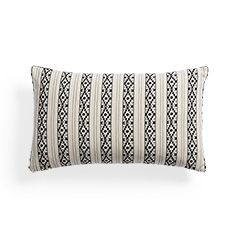 Onyx Striped Rectangular Pillow