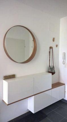 #Home #Decor / 30 Gorgeous Shoe Cabinet Ideas You Should Copy Now Ikea Shoe Cabinet, Ikea Storage Cabinets, Flur Design, Ikea Design, Storage Spaces, Hall Storage Ideas, Hallway Storage, Shoe Storage, Diy Home Decor
