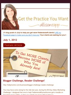 Allison's enews July 1, 2012   Why you need to be fully invested in becoming yourself, in order to find more clients!