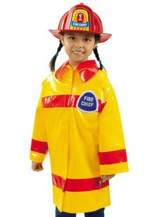 #LakeshoreDreamClassroom , Children are always ready for pretend emergencies with Lakeshore's cute Firefighter Costume!