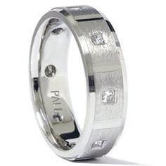 950 Palladium Mens Princess Cut Diamond Wedding Ring « Holiday Adds