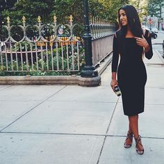 Hannah Bronfman wearing the Jimmy Choo LANCE sandal at #NYFW {Regram: @hannahbronfman}