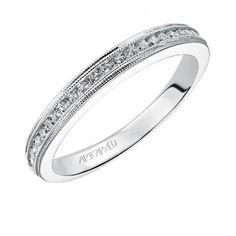 Devyn ArtCarved Diamond Wedding Ring