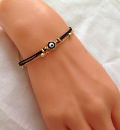 A personal favorite from my Etsy shop https://www.etsy.com/listing/238735228/evil-eye-braceletbirthday-giftblack