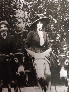 Circa 1910 - Coco Chanel riding
