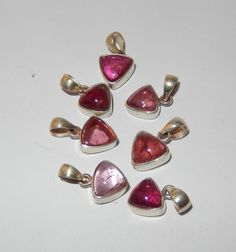 Pink Tourmaline Sterling Silver Pendant by earthlightgems on Etsy