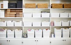 organization inspiration from Creative Moms: Sugar Paper LA Office Supply Organization, Paper Organization, Organization Ideas, Cool Office Supplies, Craft Storage, Storage Bins, Storage Ideas, Household Items, Getting Organized