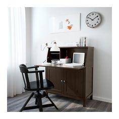 HEMNES Secretaire - zwartbruin - IKEA