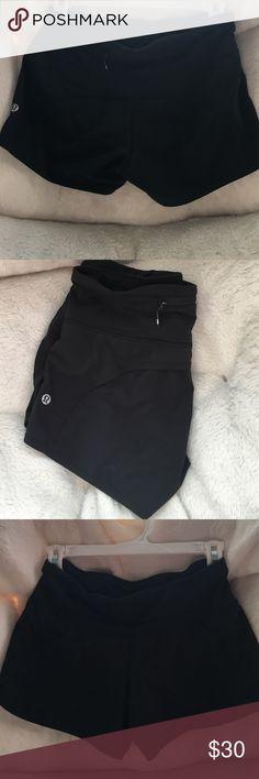 LULUlemon athletica work out shorts 🏃🏽 All black lululemon work out shorts!! Great condition!! lululemon athletica Shorts
