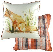 Fox Piped Country Cushion