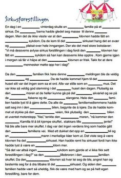 I am in the process of trying to collect some fun mad libs to use in Norwegian class. Here are a few from Sjømannskirken that are great! Activities For Kindergarten Children, Puzzles For Kids, Norway Language, Mad Libs, Never Stop Learning, School Subjects, Too Cool For School, Kids And Parenting, Teaching Resources