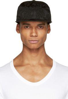 a59c0ab3f4f Dolce And Gabbana Black Brocade Baseball Cap Baseball Cap