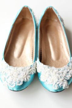 Bridal Turquoise Satin Flat Shoes Wedding Bride by madebydemet, $75.00 Wedding Flats, Wedding Fun, Wedding Bride, Wedding Stuff, Wedding Dresses, Turquoise Wedding Shoes, Never Getting Married, Tap Tap, 2 Months