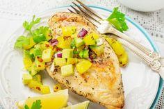 Roston csirkemell mangós salsával