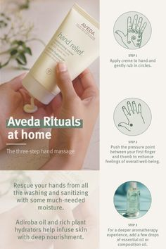 Living Aveda - Wellness Landing Page Essential Oil Blends, Essential Oils, Cracked Hands, Hand Massage, Massage Techniques, Aveda, Wellness Tips, How To Relieve Stress, Calming