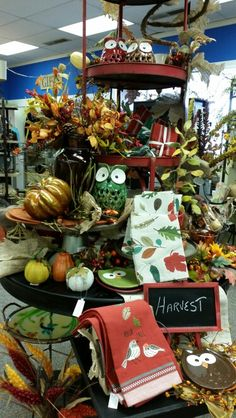 Fall Display - East Troy Autumn Displays, East Troy, Harvest, Table Decorations, Store, Fall, Furniture, Home Decor, Autumn