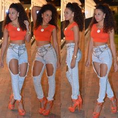 Not a fan of the outfit it's self but I love the jeans! !