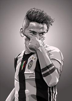 Paulo Dybala is a new idol Art Football, Ronaldo Football, Soccer Art, Football Is Life, Juventus Soccer, Juventus Fc, Football Player Drawing, Football Players, Ronaldinho Wallpapers