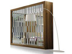 Wood and glass wardrobe with sliding doors R-100   Wardrobe - Dale Italia