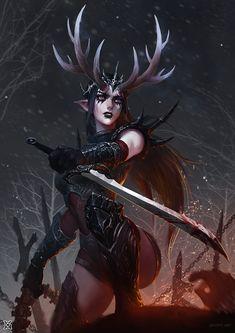 - fantasy concept by mist XG Dark Fantasy Art, Fantasy Girl, Fantasy Artwork, Fantasy Kunst, Fantasy Women, Fantasy Rpg, Medieval Fantasy, Fantasy Warrior, Fantasy Races