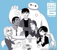 "Big Hero 6 _5 Years Later by Milady666 on DeviantArt <<< Hiro looks like Tadashi. :"")"