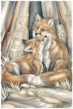 Bergsma Gallery Press::Paintings::Nature::Wild Land Animals::Wolves and Wild Dogs::Love's Way - Prints