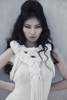 knitwear. love the idea of a feature collar or neckpiece attached to the rest of the garment