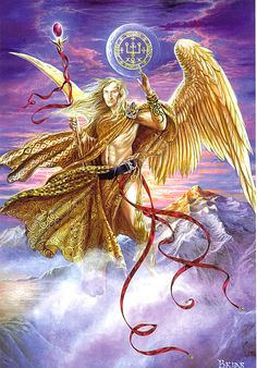 - Briar Archangel Raphael Card by Briar (Archangel Cards) at Enchanted Jewelry & Gifts Archangel Raphael, Archangel Gabriel, Angels Among Us, Angels And Demons, Catholic Archangels, Male Angels, Angel Warrior, Ange Demon, Guardian Angels