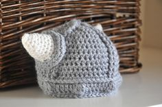 Viking Hat Newborn Baby Helmet with Horns by AllThingsGranny, $28.00 - I can see our future child wearing this! Check out her shop for more adorable handmade baby stuff!