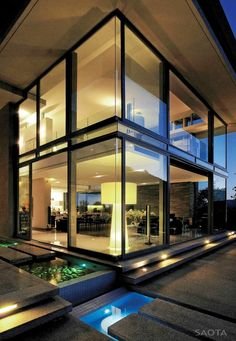 Contemporary two storey residence located in Cape Town, South Africa was designed back in 2010 by local Stefan Antoni Olmesdahl Truen Architects