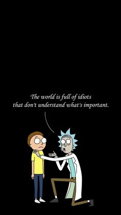 The World Is Full Of Idiots That Don't Understand What's Important. Rick And Morty Hoodie