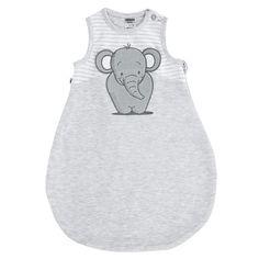Baby Schlafsack grau Elefant von Jacky / Sommerschlafsack für Deine Baby Erstausstattung