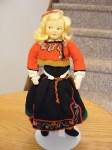 Norway-7-1-2-Ronnaug-Petterssen-Heddal-ALL-Cloth-Girl-Doll-East-Telemark-Nice