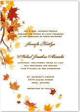Autumn Wedding Invitations Examples Phrases Printable Templates Fall Invitation