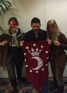 OMG. I still can't believe it!!!  I was at #JIBCON in Rome a few days ago and... and this happened. My Sister and I were at the autograph session of #JensenAckles in our LARP outfits of Sam (my sister) and Dean (I) and he was so amazed that he wanted to take a picture with us!!! Thank you, Jensen. It really means a lot to me. You're AWESOME! :) #SPNFamily #Supernatural #Cosplay #CorvaanCosplay